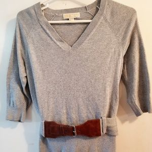 Barely Used Michael Kors Gray Belted Sweater XS-S